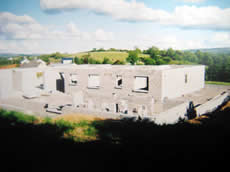 House Building with concrete blockwork in Leitrim
