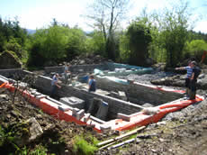 foundation construction in County Leitrim