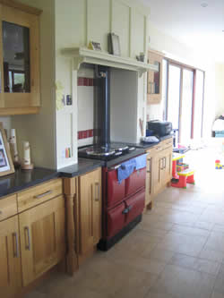 fitted kitchen with ray burner by Sligo Leitrim builder